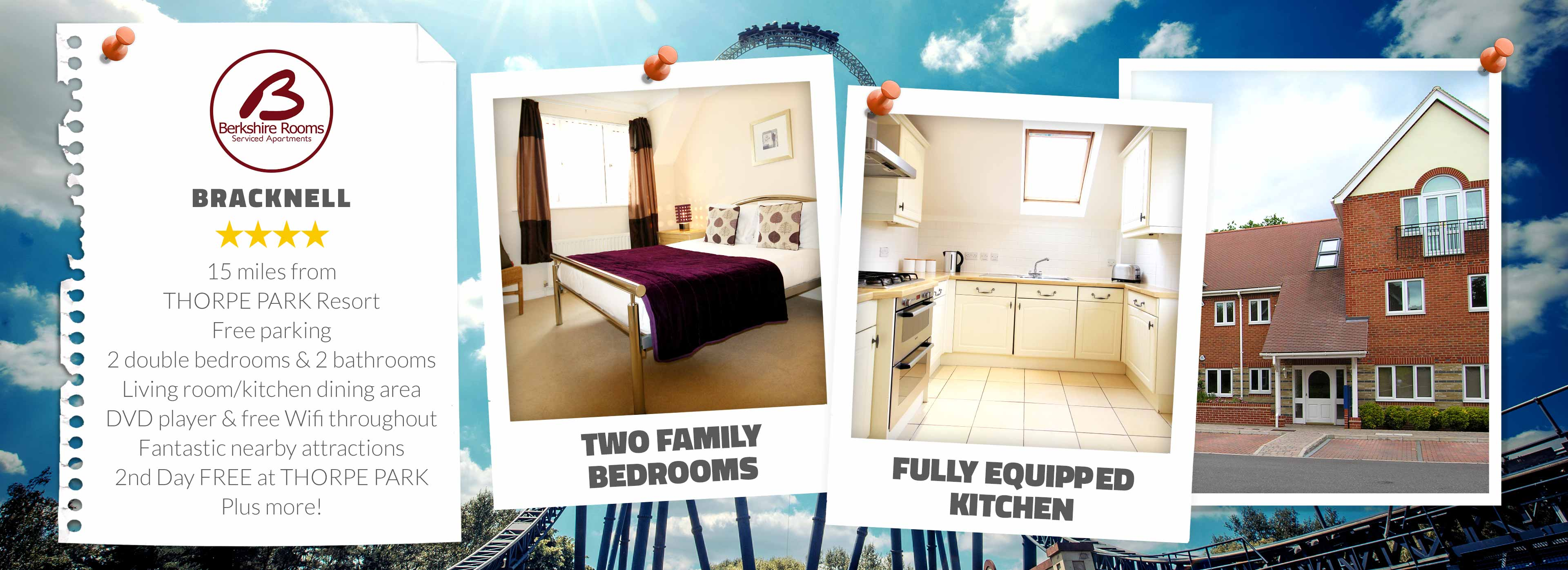 Berkshire Rooms near THORPE PARK Resort