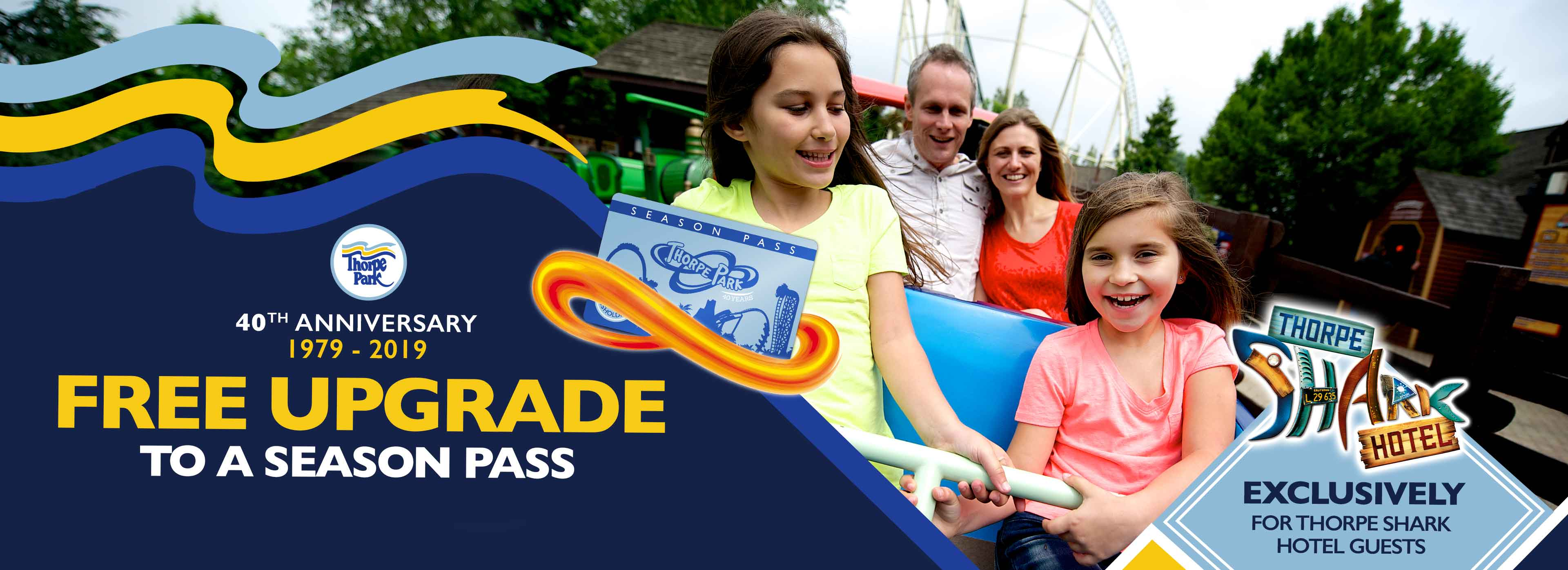 FREE Thorpe Park Season Pass upgrade with Thorpe Breaks