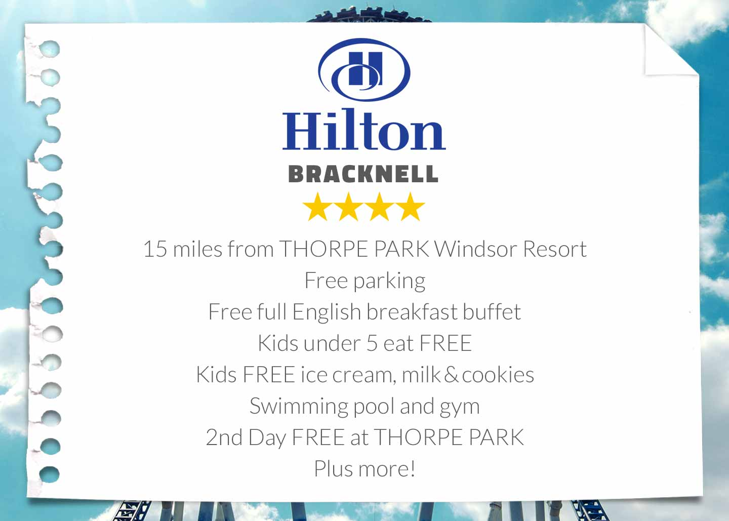 Hilton Bracknell Hotel near THORPE PARK Resort