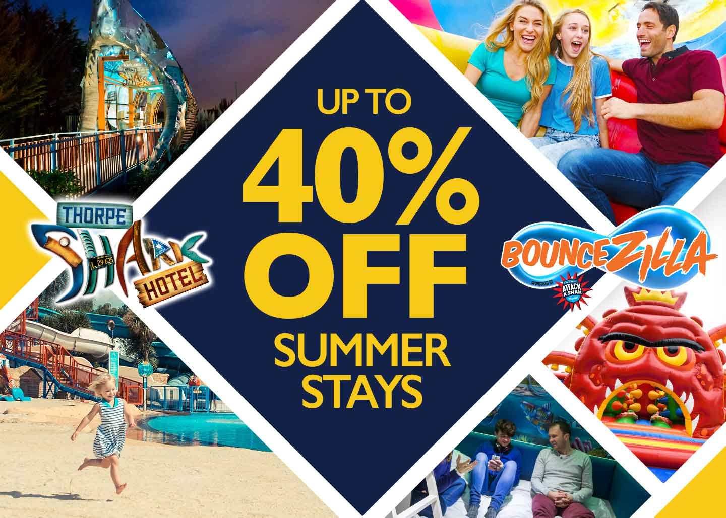 40% summer offer with Thorpe Breaks