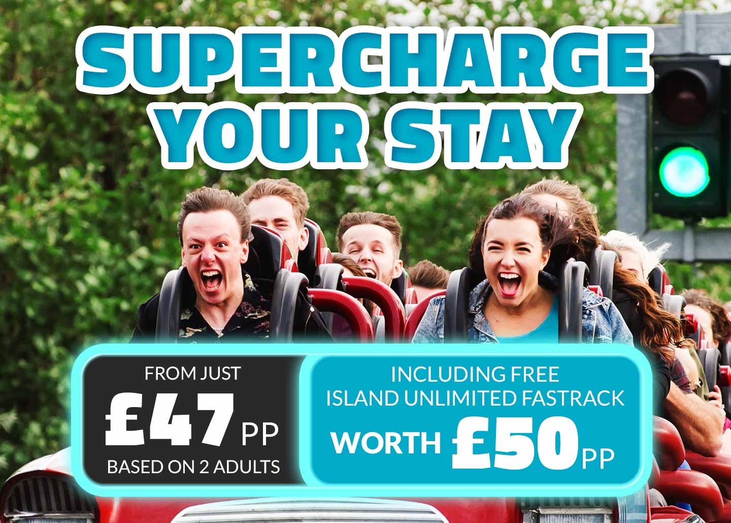 Supercharge one day ticket offer at Thorpe Park Resort